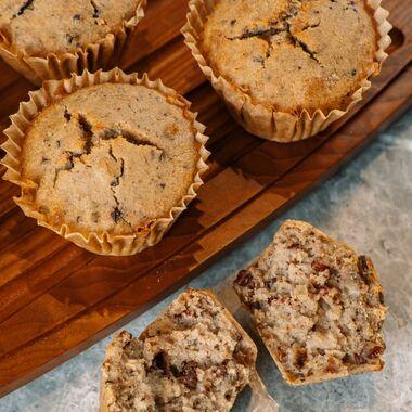 Banana Muffins with Buckweat, Сacao and Dark Chocolate